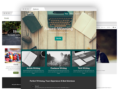 An assortment of fully customizable website themes